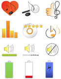 Icônes 2 de musique Photos stock