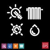 Un ensemble d'icônes pour des services publics Photo libre de droits