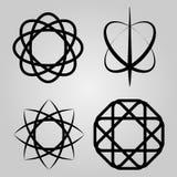Un ensemble d'icônes scientifiques Image libre de droits