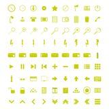 Un ensemble d'icônes universelles de WEB Images libres de droits