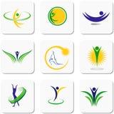 Un ensemble d'illustrations sur la gymnastique illustration libre de droits