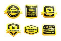 Un ensemble d'insignes de haute qualité Image stock