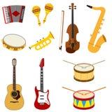 Un ensemble d'instruments de musique illustration stock