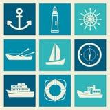 Un ensemble d'objets de mer Photos libres de droits