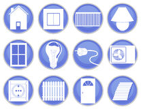 Icônes de Chambre réglées Image stock