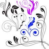 Un ensemble d'ornements colorés illustration stock