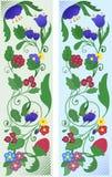 Un ensemble d'ornements floraux abstraits Photo stock