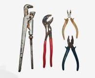 Un ensemble d'outils de métal ouvré photographie stock libre de droits