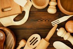 Un ensemble d'ustensiles de cuisine Image libre de droits