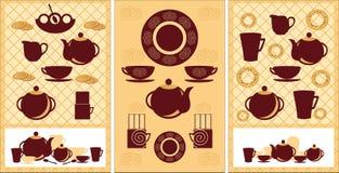 Un ensemble d'ustensiles pour le café de thé Image stock