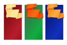 Folded_banners Photos libres de droits