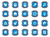 Un ensemble de boutons illustration stock