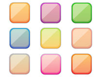 Boutons colorés carrés Photos libres de droits