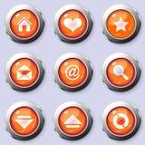Un ensemble de boutons ronds d'Internet Photographie stock libre de droits