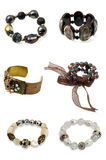 Un ensemble de braceletes Images libres de droits