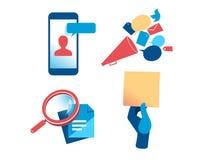 Un ensemble de clipart de communication et de vente illustration de vecteur