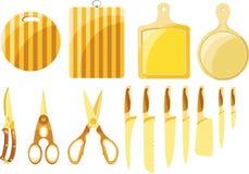 Un ensemble de couteaux et de cuisine Image libre de droits
