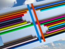 Un ensemble de crayons colorés Photo stock