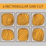 Un ensemble de dessins d'arbre rectangulaire de coupe Images libres de droits