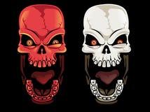 Crânes criards Image stock