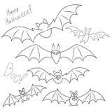 Un ensemble de différent dans des battes de nature approprié à Halloween Photo stock
