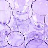Divers verres refoulés Image libre de droits