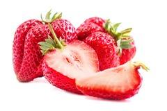 Un ensemble de fraise fraîche d'isolement sur le fond blanc Photos stock