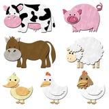 Un ensemble de la ferme d'animaux Photographie stock