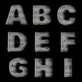 Un ensemble de lettres en métal, de création de fonte de vecteur pour les jeux visuels et mobiles illustration de vecteur
