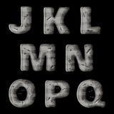 Un ensemble de lettres en métal, de création de fonte de vecteur pour les jeux visuels et mobiles 2 illustration libre de droits