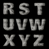 Un ensemble de lettres en métal, de création de fonte de vecteur pour les jeux visuels et mobiles 3 illustration stock