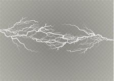 Un ensemble de magie de foudre et d'effets de la lumière lumineux Illustration de vecteur Courant électrique de décharge Courant  illustration stock