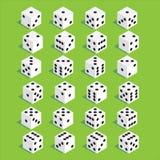Un ensemble de matrices Matrices isométriques Vingt-quatre matrices de perte de variantes Photographie stock libre de droits