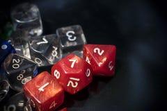 Un ensemble de matrices rouges et transparentes de RPG photographie stock