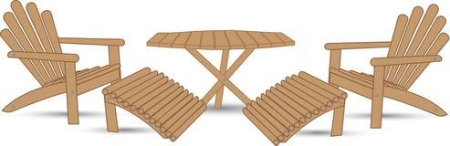 Un ensemble de meubles de jardin illustration de vecteur