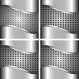 Un ensemble de milieux en métal Images stock