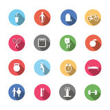 Un ensemble de mode de vie sain d'icônes colorées illustration libre de droits