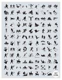 Un ensemble de noir et de Gray Sport Icons Image stock