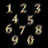 Un ensemble de nombres avec un effet explosif Image libre de droits