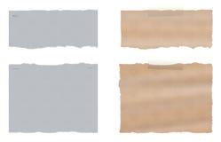 Un ensemble de papier déchiré déchiré par deux Photographie stock libre de droits