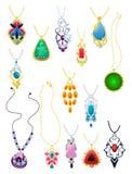 Un ensemble de pendants Images stock
