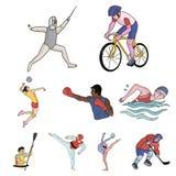 Un ensemble de photos au sujet des athlètes Photo libre de droits