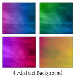 Un ensemble de quatre milieux abstraits colorés Illustration Stock