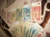 Un ensemble de roubles soviétiques 1961 images stock