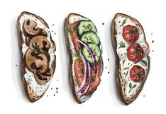 Un ensemble de sandwichs à choisir d'adapter à chacun goût du ` s Photo stock