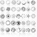 Un ensemble de symboles de cime d'arbre illustration stock
