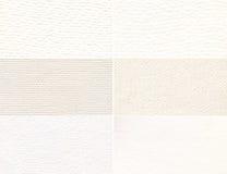 Un ensemble de texture lumière-beige. Image libre de droits