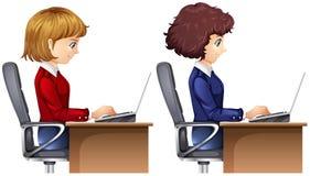 Un ensemble de travailleuse active illustration libre de droits