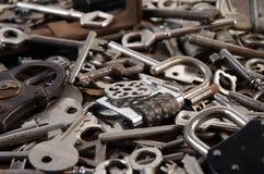 Un ensemble de vieilles clés Photos libres de droits