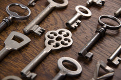 Un ensemble de vieilles clés Images libres de droits